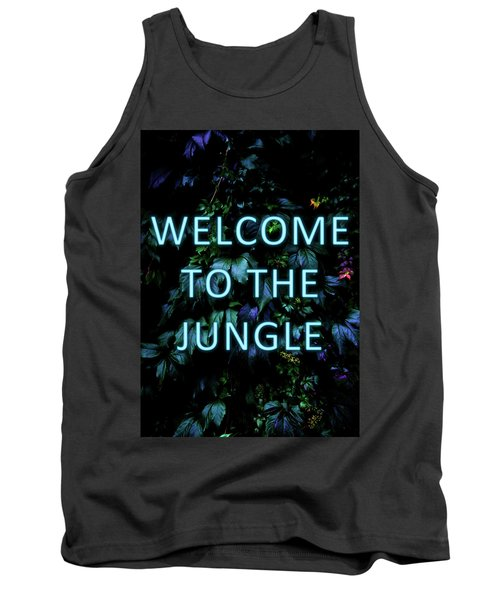 Welcome To The Jungle - Neon Typography Tank Top