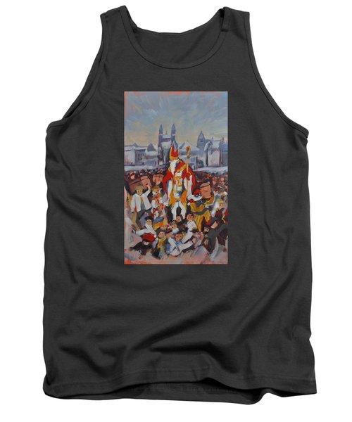 Tank Top featuring the painting Welcoming Saint Nicolas In Maastricht by Nop Briex