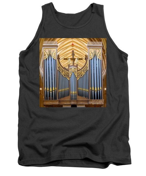 Tank Top featuring the photograph Wells Cathedral Organ by Colin Rayner