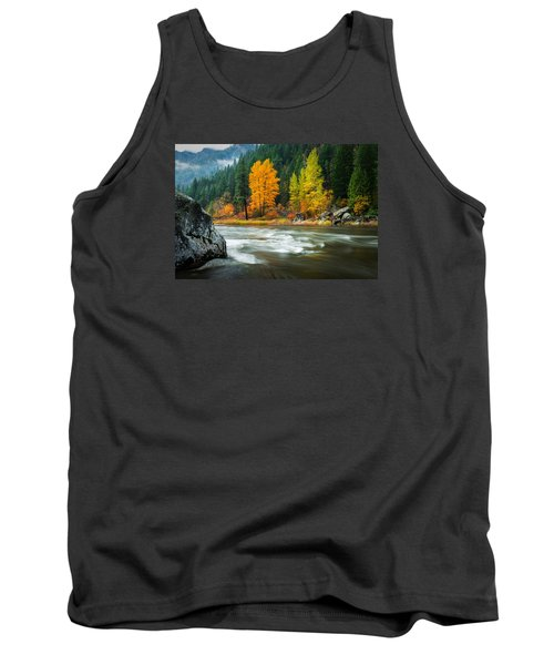 Tank Top featuring the photograph Wenatchee Riverside by Dan Mihai