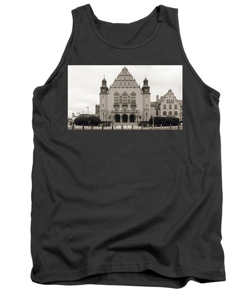West Facade Of Adam Mickiewicz University Poznan Poland Tank Top