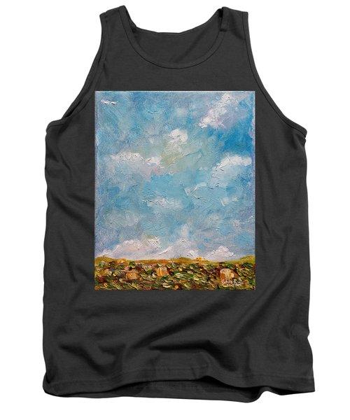 Tank Top featuring the painting West Field Seedlings by Judith Rhue