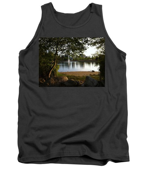 West View Of Lafarge Lake Tank Top by Rod Jellison