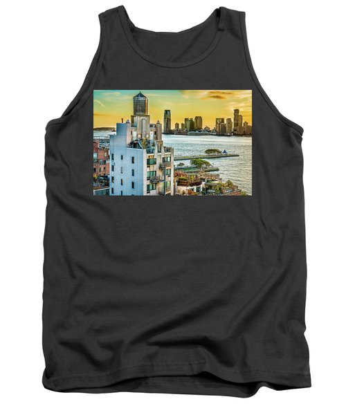Tank Top featuring the photograph West Village To Jersey City Sunset by Chris Lord