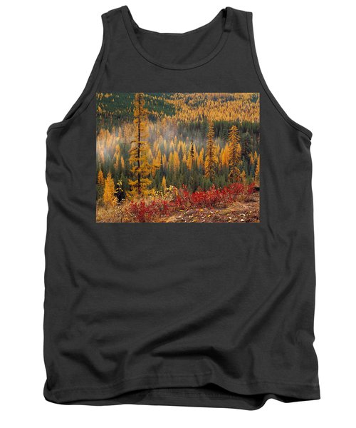 Western Larch Forest Autumn Tank Top