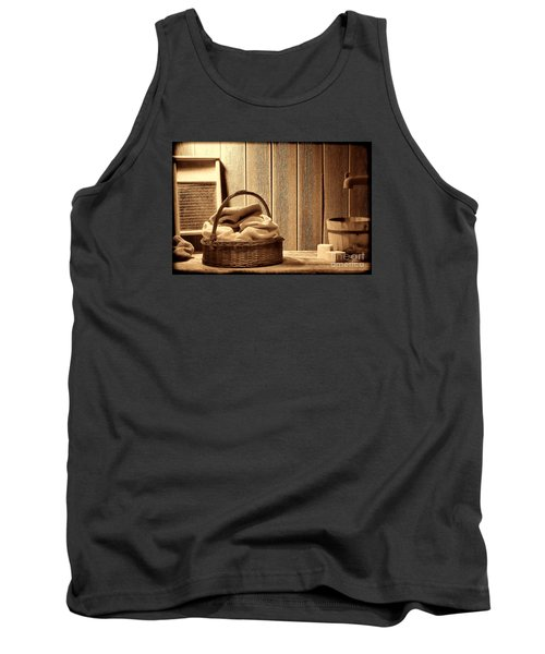 Western Laundromat   Tank Top by American West Legend By Olivier Le Queinec