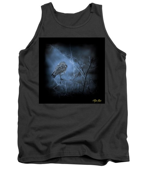 Tank Top featuring the photograph Western Owl Gloom by Rikk Flohr