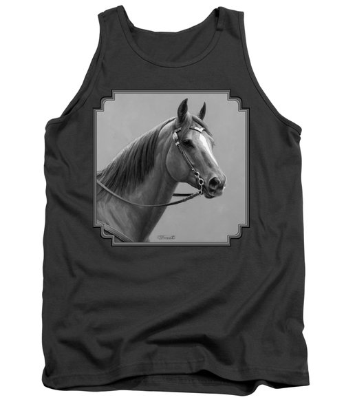 Western Quarter Horse Black And White Tank Top