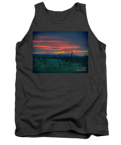 Western Texas Sunset Tank Top