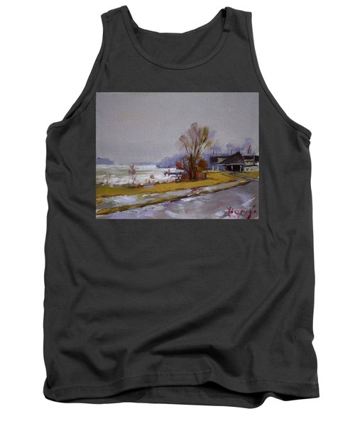 Wet And Icy At Gratwick Waterfront Park Tank Top