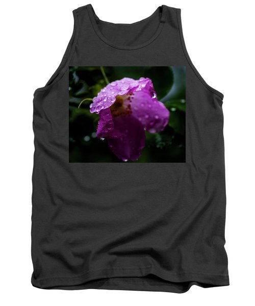 Tank Top featuring the photograph Wet Wild Rose by Darcy Michaelchuk