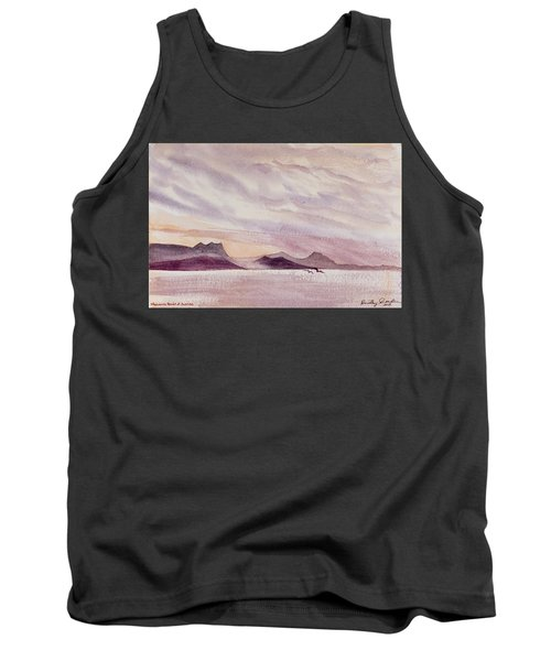 Tank Top featuring the painting Whangarei Heads At Sunrise, New Zealand by Dorothy Darden