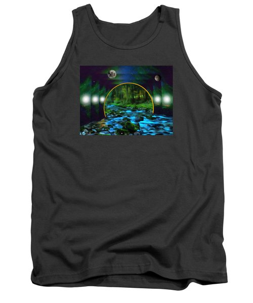 Whare Peaceful Waters Flow Tank Top by Mario Carini
