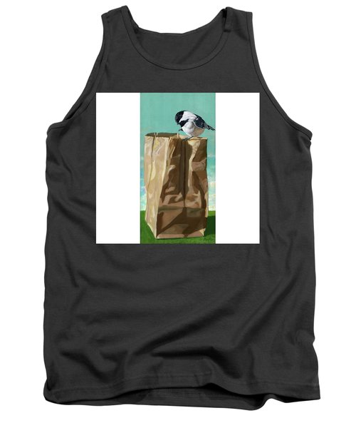 Tank Top featuring the painting What's In The Bag Original Painting by Linda Apple