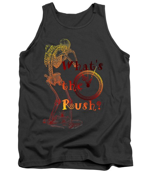 Tank Top featuring the drawing Whats The Rush by Robert G Kernodle