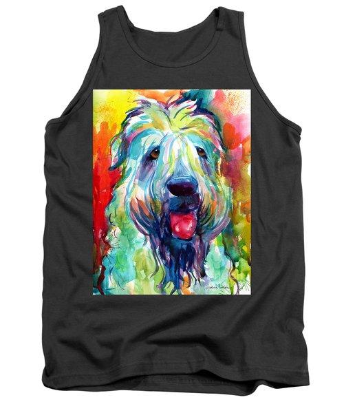Wheaten Terrier Dog Portrait Tank Top by Svetlana Novikova