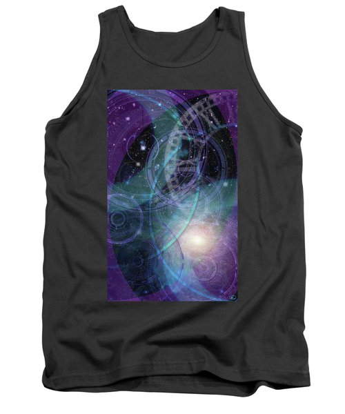 Wheels Within Wheels Tank Top by Kenneth Armand Johnson