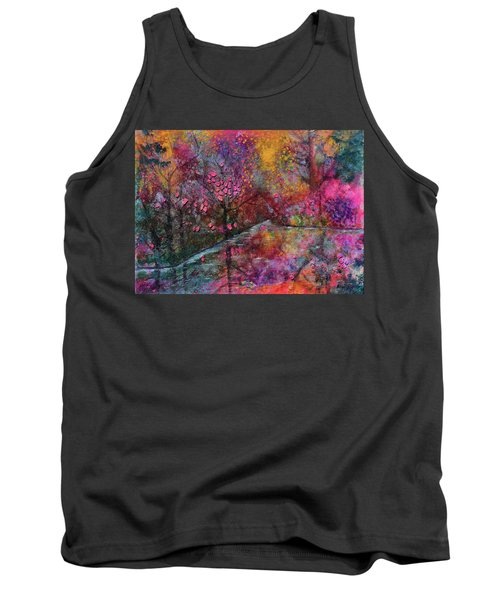 When Cherry Blossoms Fall Tank Top by Donna Blackhall