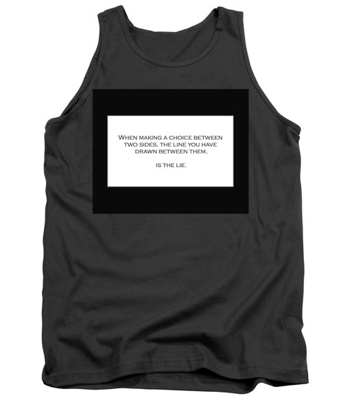 When Making A Choice Between Two Sides... Tank Top