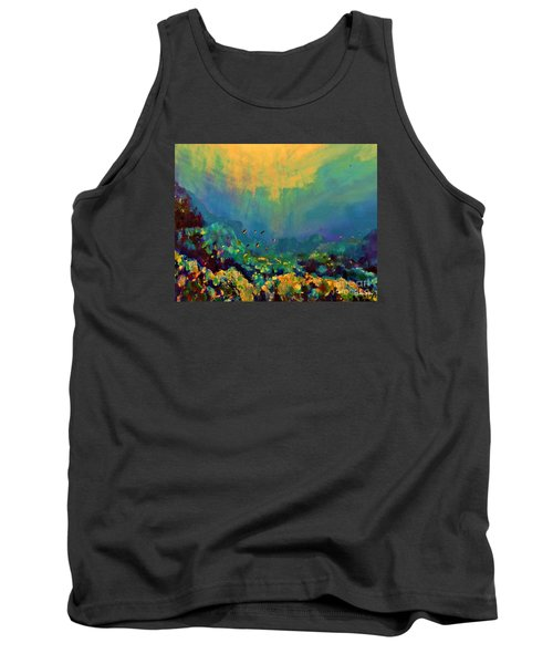 When The Sun Is Looking Into The Sea Tank Top by AmaS Art