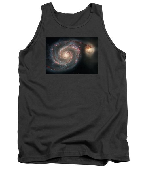 Whirlpool Galaxy And Companion  Tank Top by Hubble Space Telescope