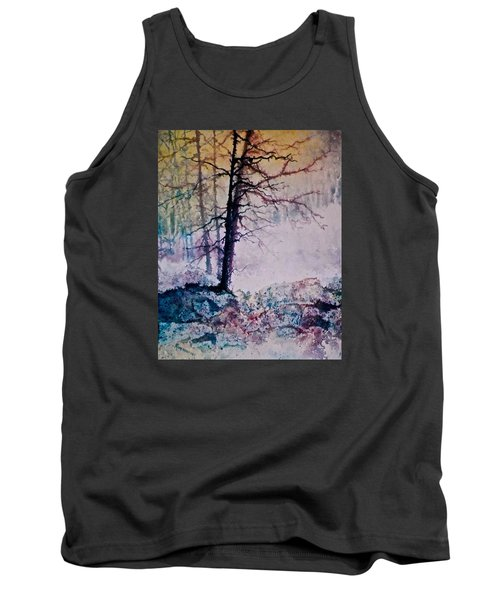 Tank Top featuring the painting Whispers In The Fog by Carolyn Rosenberger