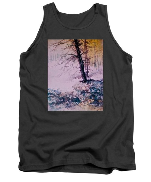 Tank Top featuring the painting Whispers In The Fog  Partii by Carolyn Rosenberger
