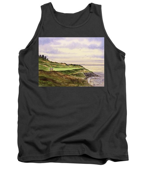 Tank Top featuring the painting Whistling Straits Golf Course Hole 7 by Bill Holkham