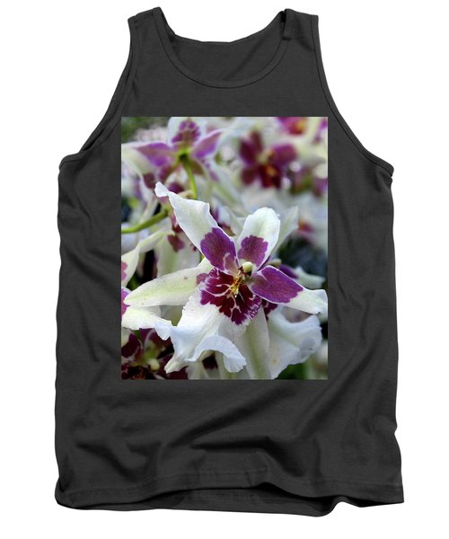 Purple And White Orchid Tank Top