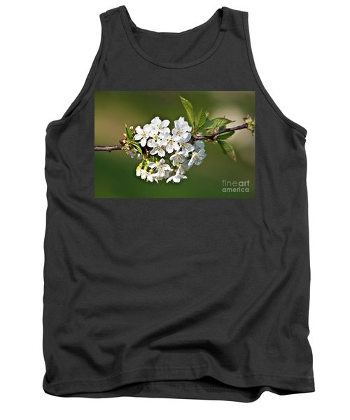 White Apple Blossoms Tank Top