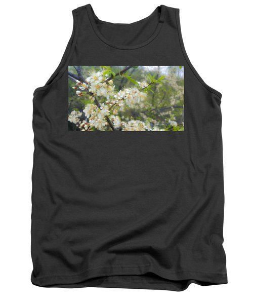 White Blossoms On Fruit Tree Tank Top
