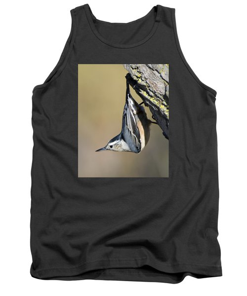 Tank Top featuring the photograph White-breasted Nuthatch by Stephen Flint
