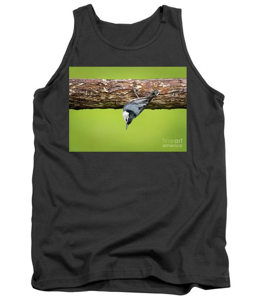 Tank Top featuring the photograph White-breasted Nuthatches by Ricky L Jones