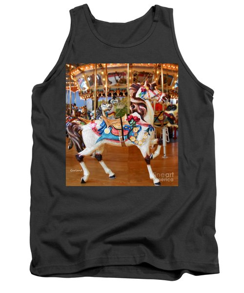 White Carousel Horse With Friends Tank Top