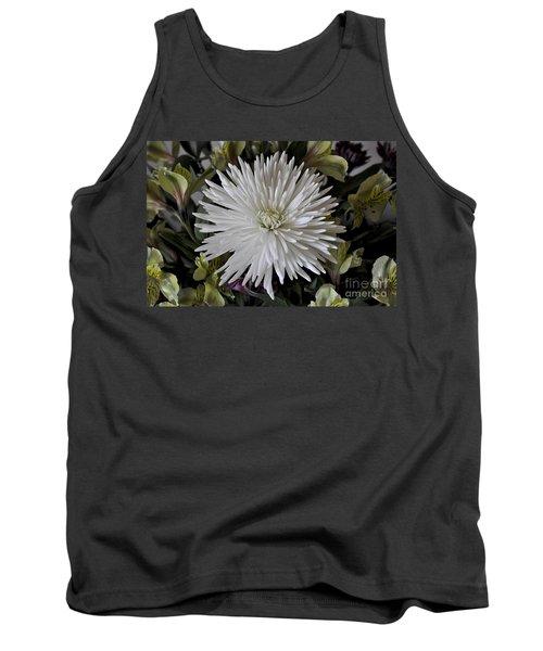 White Chrysanthemum Tank Top