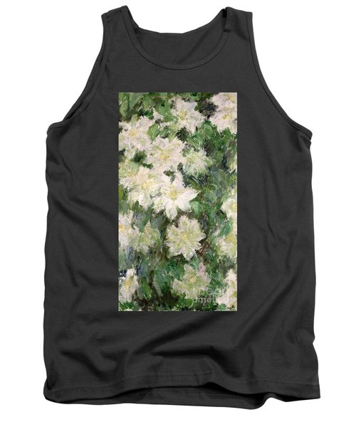 White Clematis Tank Top