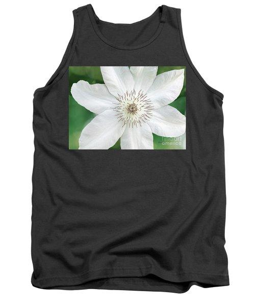 White Clematis Flower Garden 50121 Tank Top