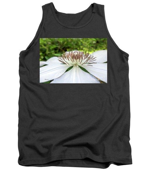 White Clematis Flower Garden 50146 Tank Top
