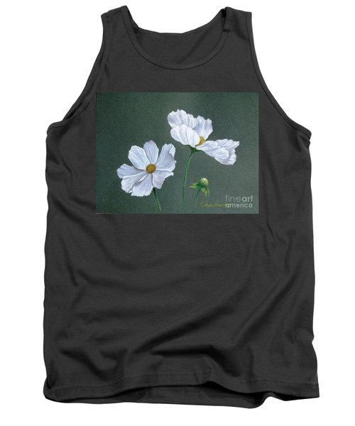 White Cosmos Tank Top