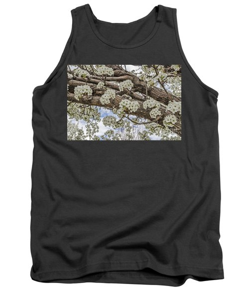 Tank Top featuring the photograph White Crabapple Blossoms by Sue Smith