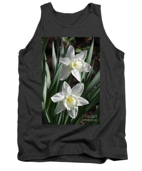 White Daffodils #2 Tank Top