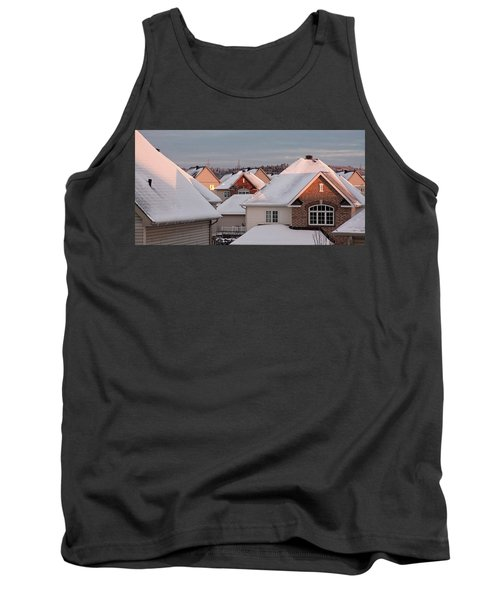 White December Rooftops Tank Top