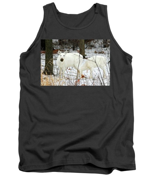 White Deer With Squash 3 Tank Top by Brook Burling
