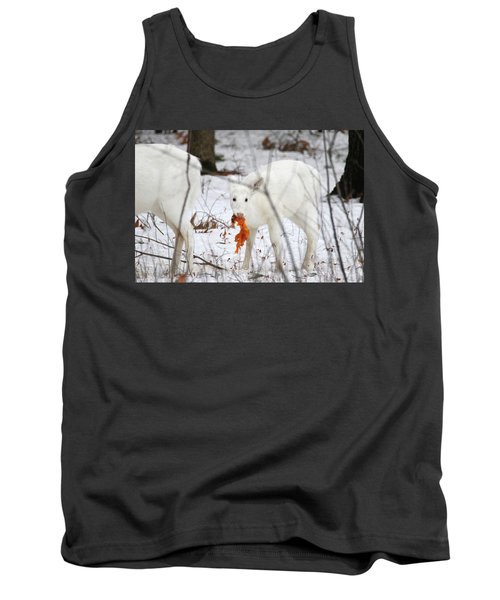 White Deer With Squash 5 Tank Top by Brook Burling