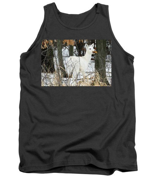 White Doe With Squash Tank Top by Brook Burling