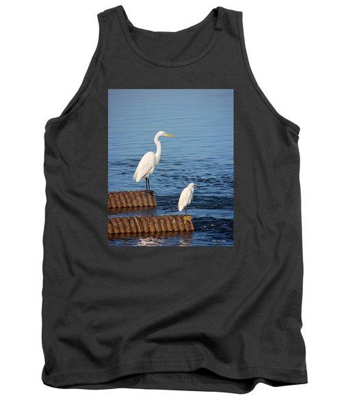 White Egrets Tank Top