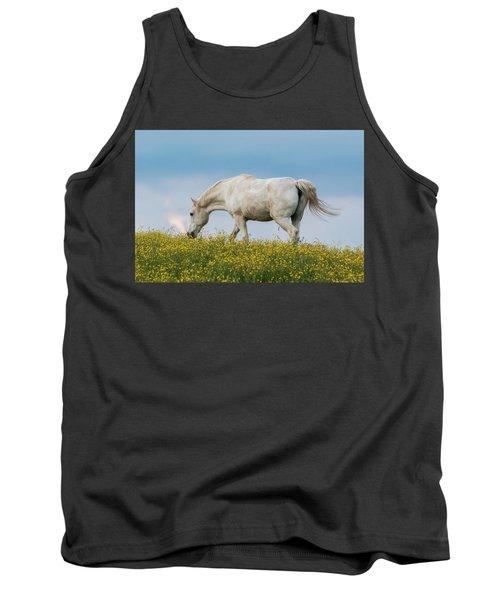 White Horse Of Cataloochee Ranch 2 - May 30 2017 Tank Top