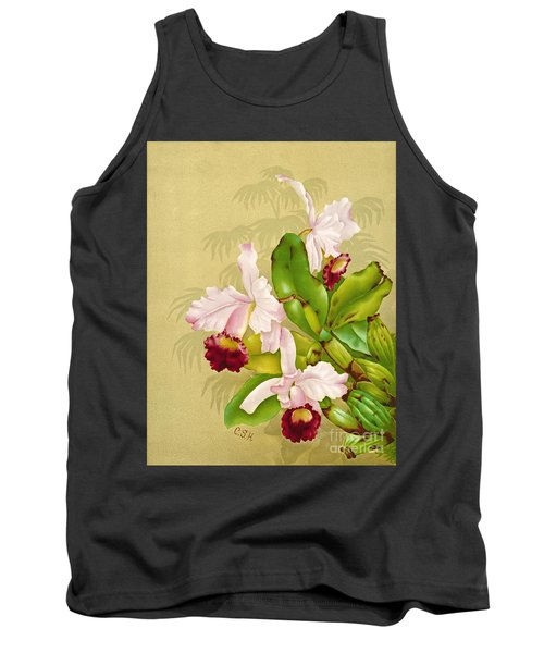 White House Orchid 1892 Tank Top by Padre Art