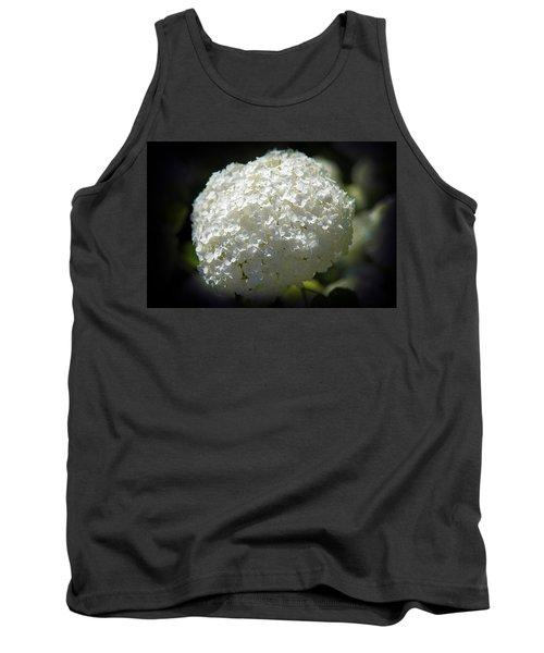 White Hydrangea Tank Top