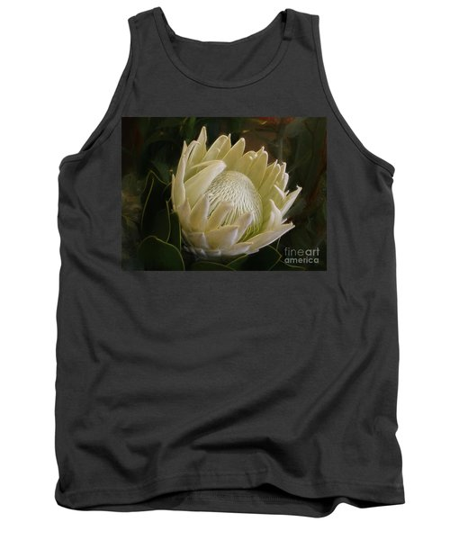Tank Top featuring the photograph White King Protea By Kaye Menner by Kaye Menner